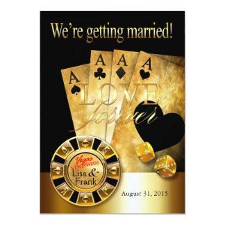 Deluxes Schwarzes Hochzeit   Las Vegass Gold Karte