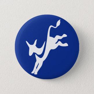 Demokrat-Esel-Knopf Runder Button 5,1 Cm