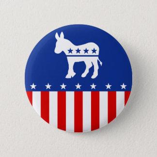 Demokrat-Esel-Knopf Runder Button 5,7 Cm