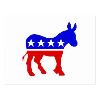 Demokrat-Esel-politisches Symbol Postkarten