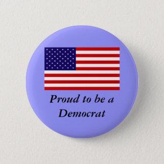 Demokrat-Knopf Runder Button 5,1 Cm