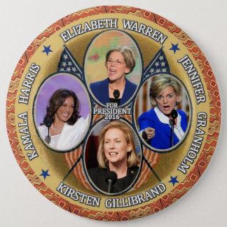Demokraten für Präsidenten im Jahre 2016 Runder Button 15,3 Cm