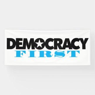 Demokratie-erste Fahne Banner