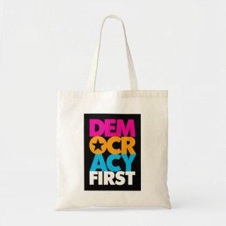 Demokratie-erste Taschen-Tasche Tragetasche