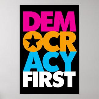 Demokratie-erstes Plakat