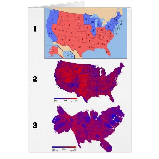 Demokratische Abstimmungs-Karten Grußkarte