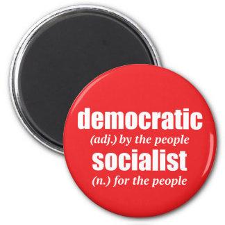 Demokratischer sozialistischer Definitions-Magnet Runder Magnet 5,7 Cm