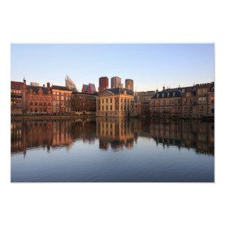 Den Haag Skyline in den Niederlanden Fotodruck
