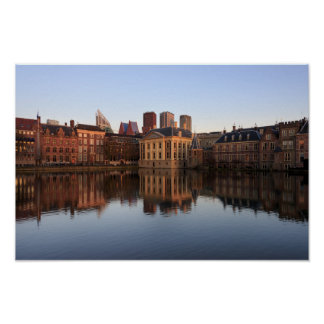 Den Haag Skyline in den Niederlanden Poster