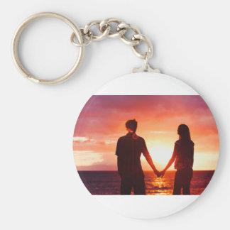 Den Sonnenuntergang mit dem aufpassen Sie Love.jpg Schlüsselanhänger