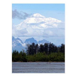 Denali, Mt McKinley, vom Fluss, Alaska, USA 1 Postkarte