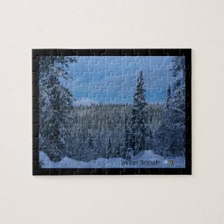 Denali Winter-Märchenland-Puzzlespiel