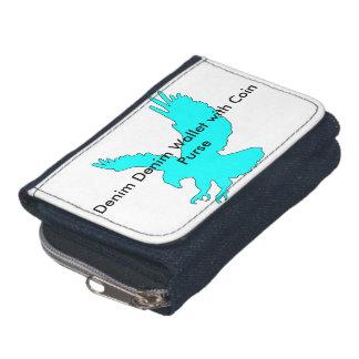 Denim-Denim-Geldbörse mit