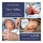 Denim multiple de bleu de la naissance carton d'invitation
