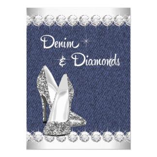 Denim-und Diamant-Geburtstags-Party Einladungen