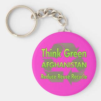 Denke ökologisch Afghanistan Schlüsselanhänger