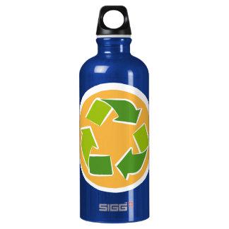 Denke ökologisch-Bewusstseins-glückliches Zitat Wasserflasche