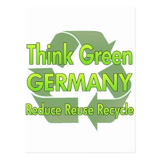 Denke ökologisch Deutschland Postkarte