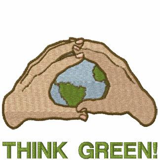 Denke ökologisch-Welt Besticktes Hoodie