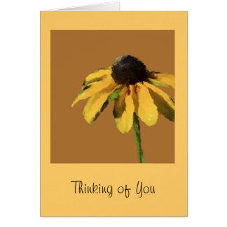 Denken an Sie Gruß-Karte mit Sonnenblume Grußkarte