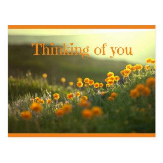 Denken an Sie Postkarten-Gruß-Karte Postkarte