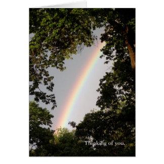 Denken an Sie Regenbogen-Karte Karte