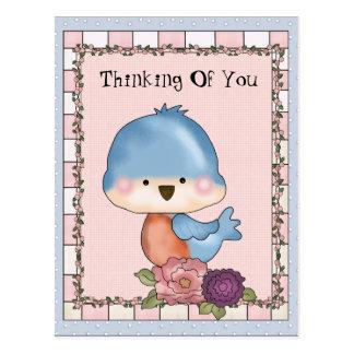 Denken an Sie Vogel-Postkarte Postkarte