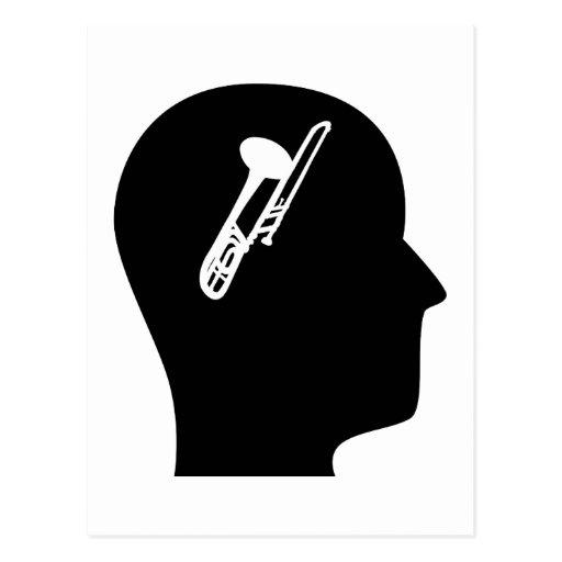 Denken an Trombone Postkarte