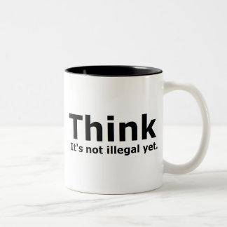 Denken Sie, dass es nicht illegaler noch politisch Kaffeetasse