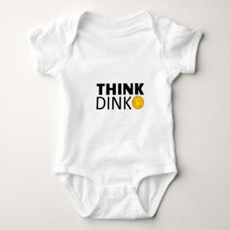 Denken Sie Dink (Pickleball) Baby Strampler