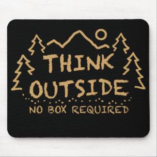 Denken Sie draußen, kein erforderter Kasten Mousepad