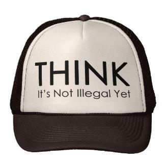 Denken Sie, es ist nicht illegaler schon Baseballkappen