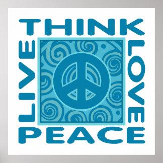 Denken Sie Frieden Liebe-Frieden Livefrieden