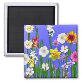 Denken Sie Frühling Quadratischer Magnet