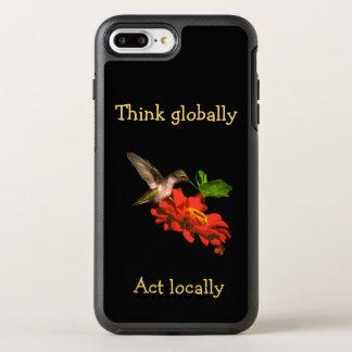 Denken Sie global Tat am Ort rote iPhone 7 OtterBox Symmetry iPhone 8 Plus/7 Plus Hülle