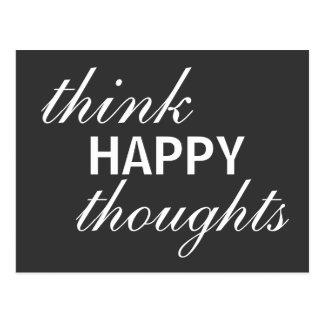 Denken Sie glückliche Gedanken - inspirierend Postkarte