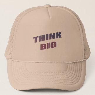 Denken Sie große motivierend Phrasen Truckerkappe