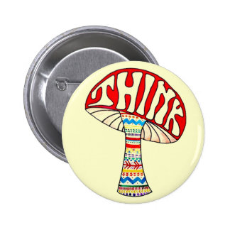 Denken Sie Knopf Runder Button 5,7 Cm