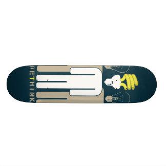 Denken Sie Skateboard über