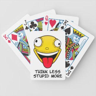 Denken Sie weniger, dumm mehr Bicycle Spielkarten