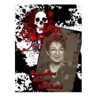 Denkmalfeier dia de Los Muertos Postkarte
