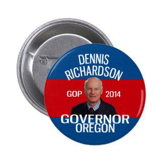 Dennis Richardson für Gouverneur-Button Runder Button 5,1 Cm