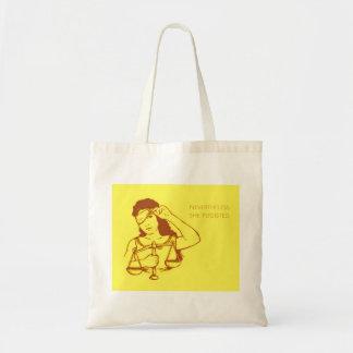 Dennoch bestand sie (gelbe) Tasche fort