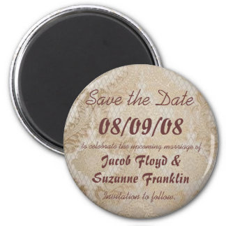 Dentelle antique - sauvez le magnet de date aimant