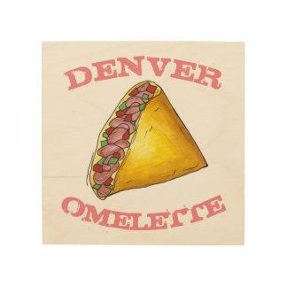 DENVER-Omelett-Ei-Omelett-Frühstücksnahrung-Küche Holzwanddeko