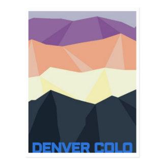 Denver-Sonnenuntergang-Postkarte Postkarte