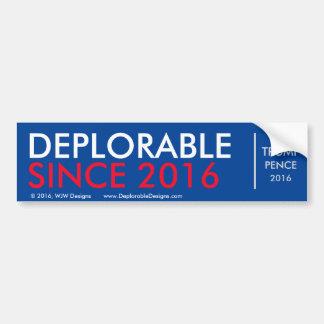 DeplorableSince2016 Autoaufkleber