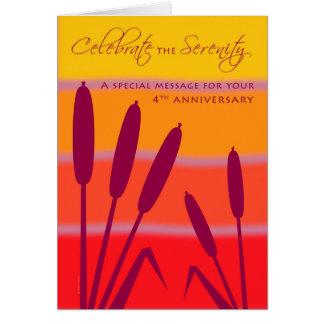 Der 12 Schritt-Geburtstags-Jahrestag 4 Jahre Karte