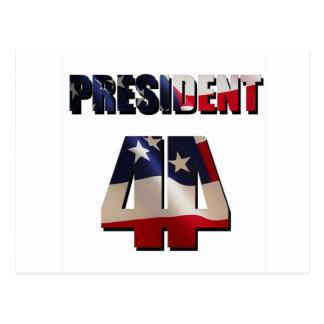 Der 44. Präsident Postkarte
