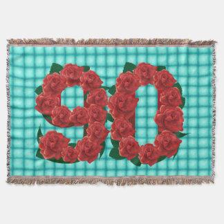 Der 90. Blumendecke Geburtstags-Roten Rosen der Decke